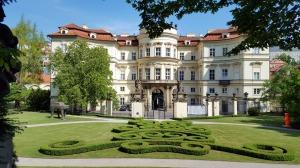 Rear of the German Embassy, Petřín Park, Prague